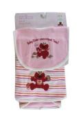 Sesame Street Baby Elmo Loves Meal Time! (Pink) Bib & Burp Cloth