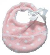 Pickles Bubbles Polka Dot Baby Bib, Pink