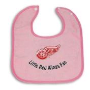 Detroit Red Wings PINK Baby Bib