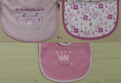 3pk hook and loop Closure Bib Little Beginning Infant Bib Our Little Princess
