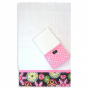 Chocolate Bloom Burp Cloth Set