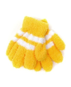 New Kid's Yellow With White Striped Magic Winter Gloves KSTG3301