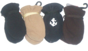 Glv172 Set of Four Mongolian Fleece Microfiber Lined Very Warm One Size Bubu Mittens for Infants Ages 3-12 Months