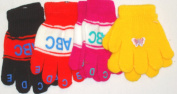 Mglv290 Set of Four Pairs of Multicolor Magic Gloves for Infants and Toddlers Ages 1-4 Years