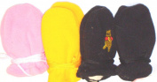 Set of Four One Size Fine Mongolian Fleece Microfiber Lined Very Warm Mittens for Infants and Toddlers Ages 0-12 Months
