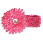 Pink Flower Polka Dot Headband - One Size - Fairy Princess Dress Up