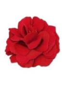 A Girl Company Red Satin Flower Hair Bow/Clip/Brooch