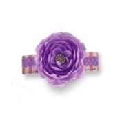Baby Girls Hair Accessories -Jewelled Flower Soft Headband - PURPLE- 355029