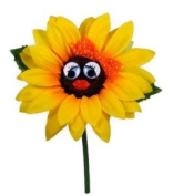 VW Beetle Flower - Sunflower with Orange Bow