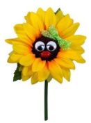 VW Beetle Flower - Sunflower with Green Bow