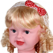 Lovely Polka Dot Bow Elastic Mesh Lace Kids Headband - Pink and Red