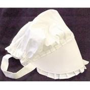 White Bonnet Baby Size