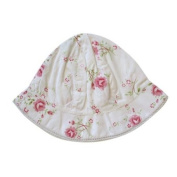 Powell Craft Rose Print Baby Girls Hat /Sunhat - To fit age 0-12 months approx.