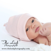 Melondipity Pink Organic Baby Girl Hat - Perfect Newborn Hospital Beanie - Premium 100% Super Soft Egyptian Cotton - One Size