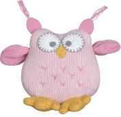 Owl Hoot Knit Plush small Pink-12.7cm