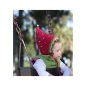 San Diego Hat RED STRAWBERRY Baby Pixie Bonnet 0-6 Months