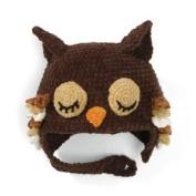 San Diego Hat BROWN SLEEPY OWL Toddler Kids Beanie Hat Bonnet 3-6 yrs - SO cute!!