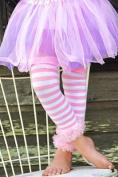 Pink Ruffled Stripe Legwarmers