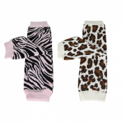 Wrapables Colourful Baby Leg Warmers (Set of 2) - Safari Girl