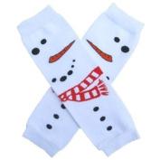 White Snowman Face - So Sydney Brand Leg Warmers - for my Infant, Baby, Toddler, Little Girl or Boy