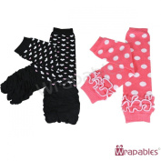 Wrapables Colourful Baby Leg Warmers (Set of 2) - Hearts & Dots