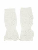 Baby Cloud White Legruffle Leg Wamers By Huggalugs