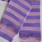 Bambino Land - Berry/Purple Stripes Organic Cotton Baby Leg Warmers