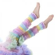 Sherbet Stripe Legruffle Leg Warmers By Huggalugs