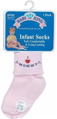 Baby King I Love Mommy/Daddy Socks (0-9M)