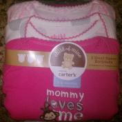 "Carter's Child of Mine ""Mommy Loves Me"" Three short sleeve bodysuits 3-6months h:61cm -67.3cm w:5.67-7.48kg"