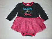 Santa Rocks, X'mas - Baby Girl Bodysuit, Size 3M