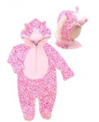 "Le-top ""Pinky the Leopard"" Comfortluxe Coverall with Mittens and Booties 0-3 Months"