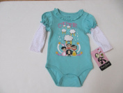 Paul Frank Luxe Shirt/onesise Girls Size 3/6 Months Mint