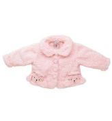 Fuzzy Wear Girls Pink Poodle Jacket, 12-18 months
