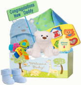 """Baby Time"" New Dad and Baby First Gift Basket"