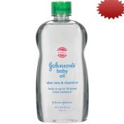Johnson's Baby Oil With Aloe Vera & Vitamin E, 590ml