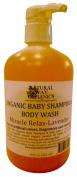 Natural Way Organics Organic Baby Shampoo & Body Wash Miracle Relax - Lavende...