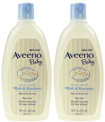 AVEENO Baby Wash & Shampoo 530ml - 2 pack --