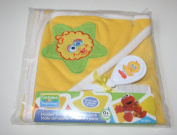 Sesame Street Hooded Towel With Brush & Comb Set - Yellow
