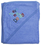 Extra Large 101.6cm x76.2cm Absorbent Hooded Towel, I Love My Daddy (Medium Blue), Frenchie Mini Couture