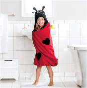 Lovebug Children's Hooded Bath Towel in Red by Jumping Beans