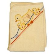 Frenchie Mini Couture Extra Large 101.6cm x76.2cm Absorbent Hooded Towel, Ducks