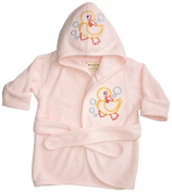 Funkoos Rubber Ducky Organic Hooded Bathrobe, Baby Girl