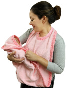 Extra Large Hands Free Absorbent Hooded Towel, Pink By Frenchie Mini Couture