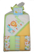 Cutie Pie Best Friends Hooded Towel and Washcloth Set