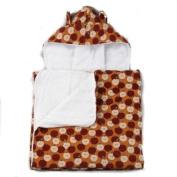 My Blankee Rust Harvest Corduroy Hooded Terry Towel - 66cm X 106.7cm