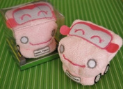 Pink Car towel treat baby kids washcloth 12x12 Baby shower gift kids birthday Boys or Girls