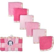 Gerber 6 pack Woven Washcloths 100% Cotton 9 x 9 Girl Colours