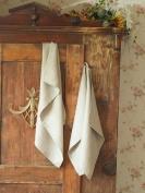 Set of 2 Wash Cloths Natural Linen Washed Wafer