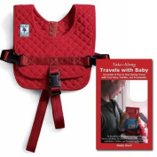 Bundle: Small / Infant to 6 mos Baby B'Air flight safety harness with award-winning Take-Along Travels with Baby